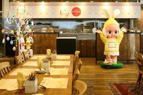 期間限定の「キユーピー マヨカフェ」店内の様子