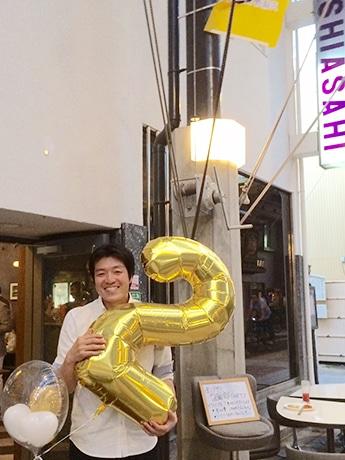 「西アサヒ」オーナーの田尾大介さん