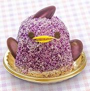 名古屋駅のイタリアンレストランに紫色の「ぴよりん」 カゴメ野菜ジュース使う