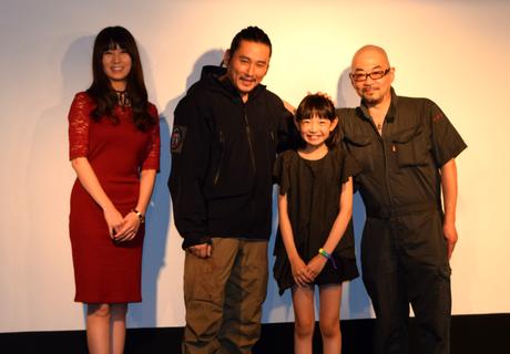 (左から)百合沙さん、TAK ∴さん、近藤結良さん、西村喜廣監督