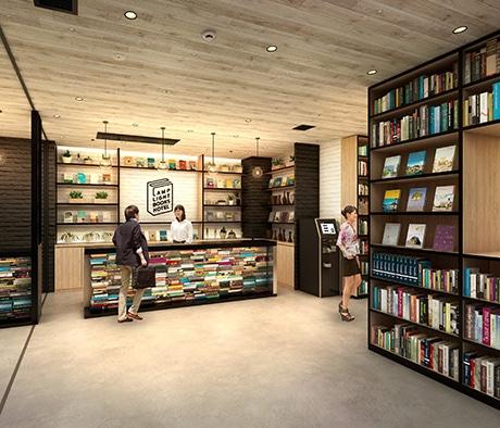 「ランプライトブックスホテル名古屋」のホテルレセプション(イメージ)