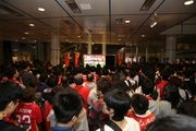 中京テレビ本社でグランパス最終節をパブリックビューイング J1へ名古屋の風を起こそう