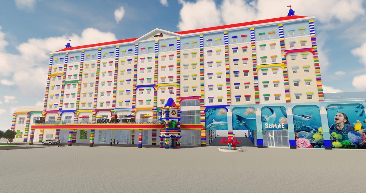 レゴブロックの世界を表現した「レゴランド・ジャパン・ホテル」外観(イメージ)