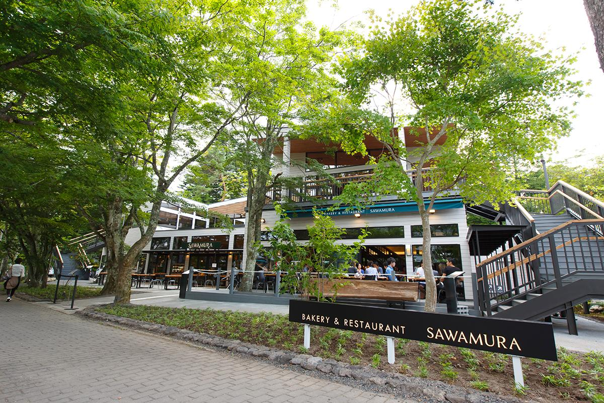 「ベーカリー&レストラン 沢村」軽井沢の店舗