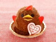 名古屋駅構内のカフェに「バレンタインぴよりん」 期間限定チョコバージョン