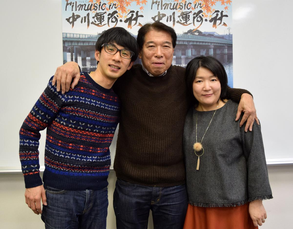 (左から)松本卓也監督、木全純治プロデューサー、北岡真紀子監督