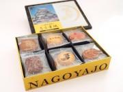名古屋城や金のシャチホコをデザインした缶箱の「名古屋城フールセック」
