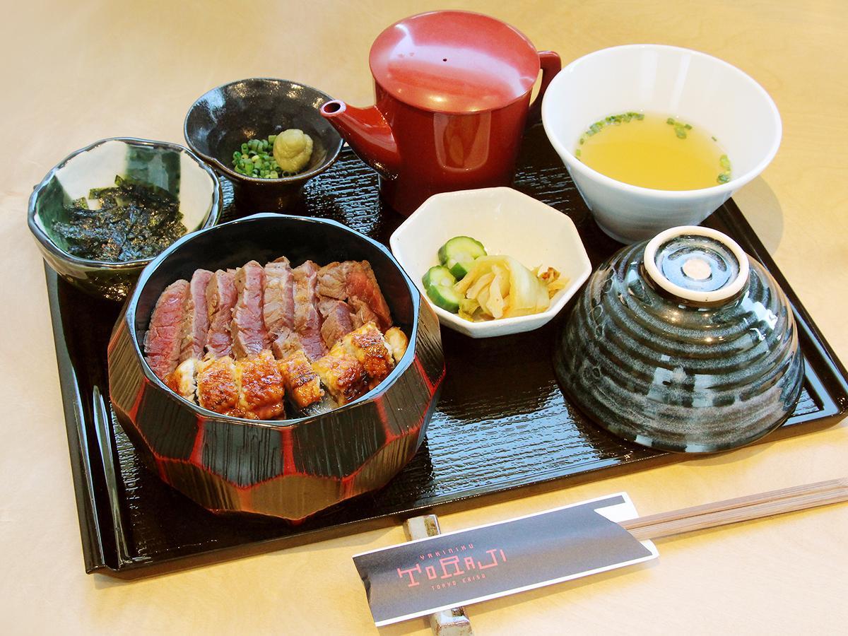 「焼肉トラジ」が販売するリニューアル記念メニュー「肉ひつまぶし膳」