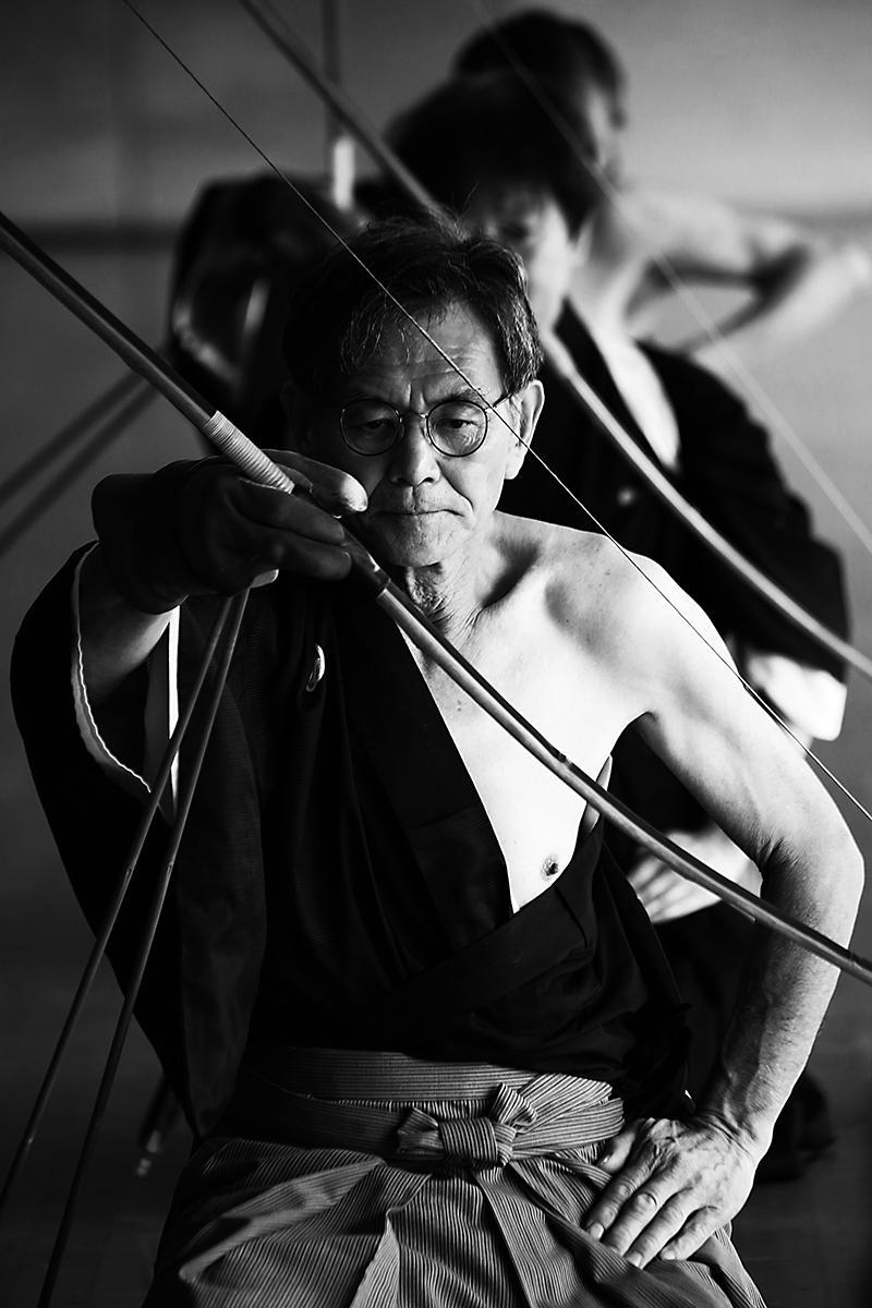 弓道写真家・奥野浩次さんの作品の一つ