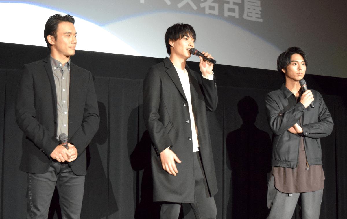 来名した(左から)小澤雄太さん、鈴木伸之さん、小野塚勇人さん