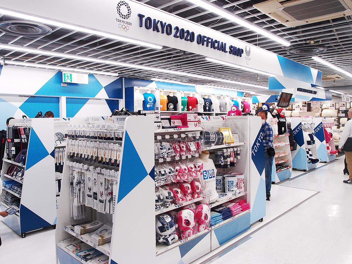 「東京2020オフィシャルショップ名古屋店」店舗の様子