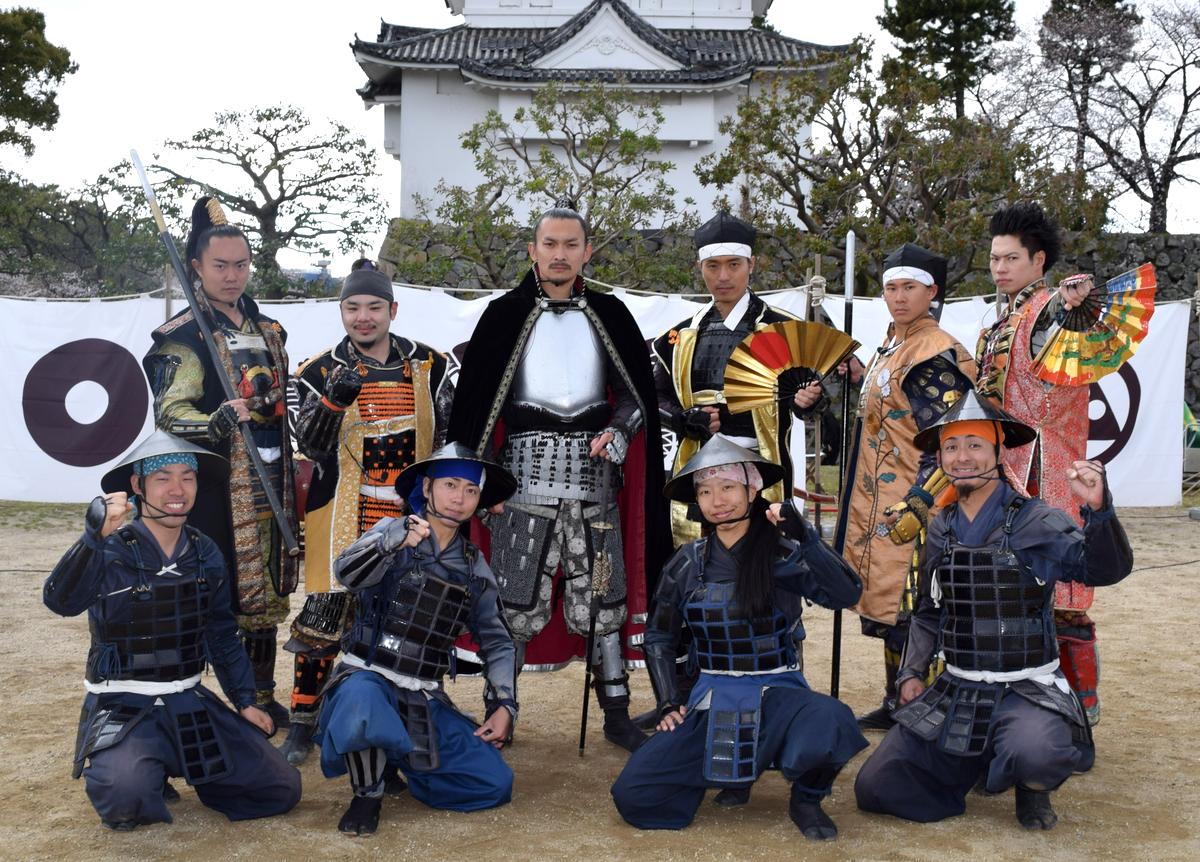 名古屋おもてなし武将隊が出立式。加藤清正、陣笠隊の哉太郎が卒業