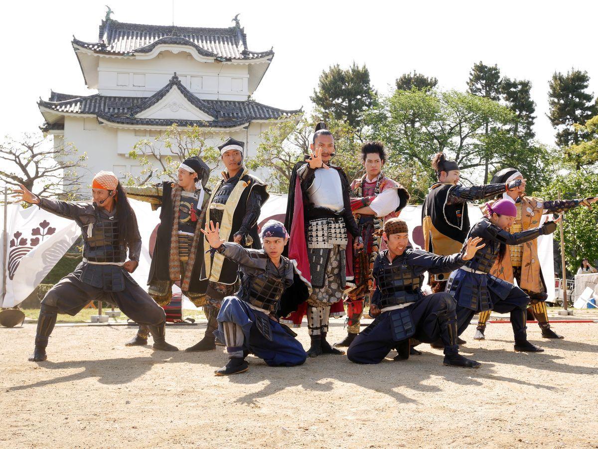 新メンバーお披露目式で演武を行った「名古屋おもてなし武将隊」