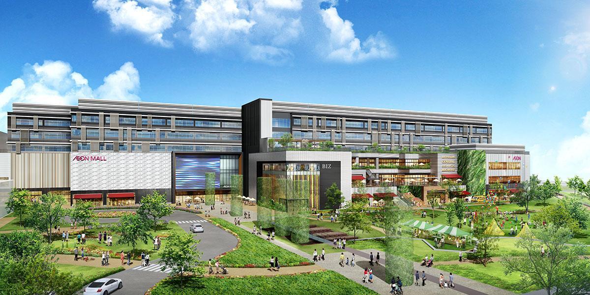 「(仮称)ノリタケの森プロジェクト」建物外観イメージ(画像提供:イオンモール)