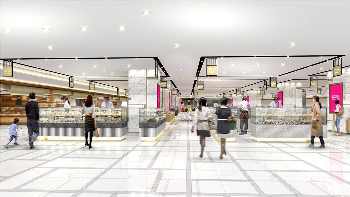 食料品売り場改装後のイメージ(画像提供=ジェイアール東海高島屋)