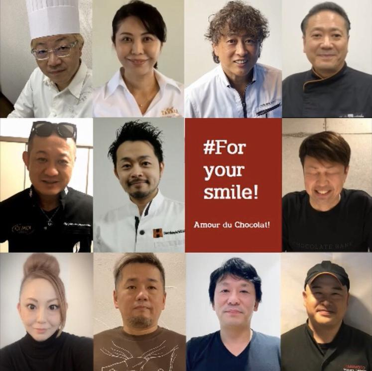 シェフ11人のメッセージを集めたオリジナル動画のビジュアル(画像提供=ジェイアール名古屋タカシマヤ)