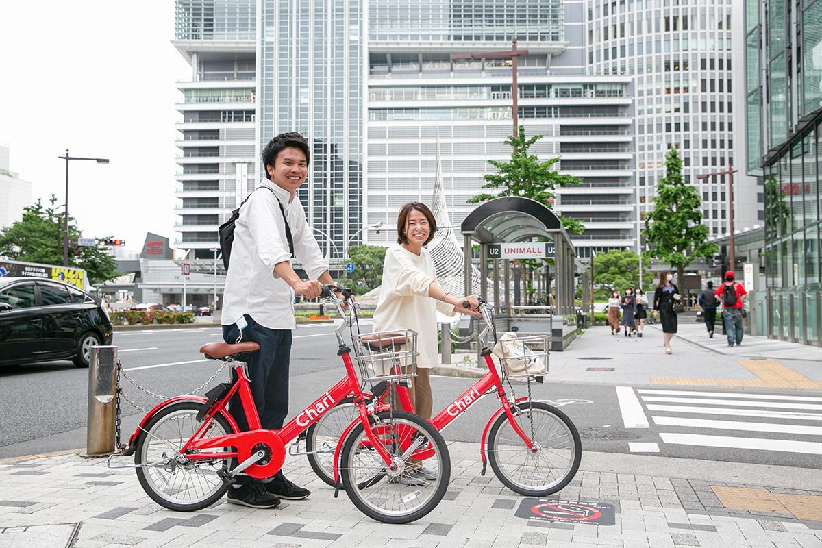 赤い自転車の「Charichari」(画像提供=neuet)