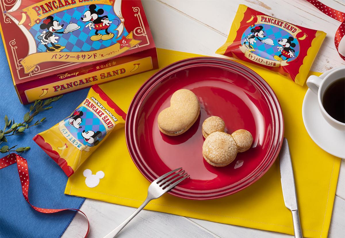 クリームを挟んだパンケーキサンドの「ミッキーマウス/パンケーキサンド『見ぃつけたっ』」 © Disney