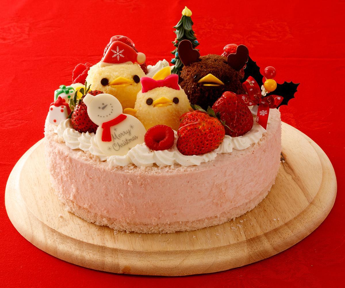 「ぴよりん一家のクリスマス」はサンタ帽をかぶせたぴよりんや「ぴよりんトナカイ」などでクリスマスパーティーを楽しむ様子を表現
