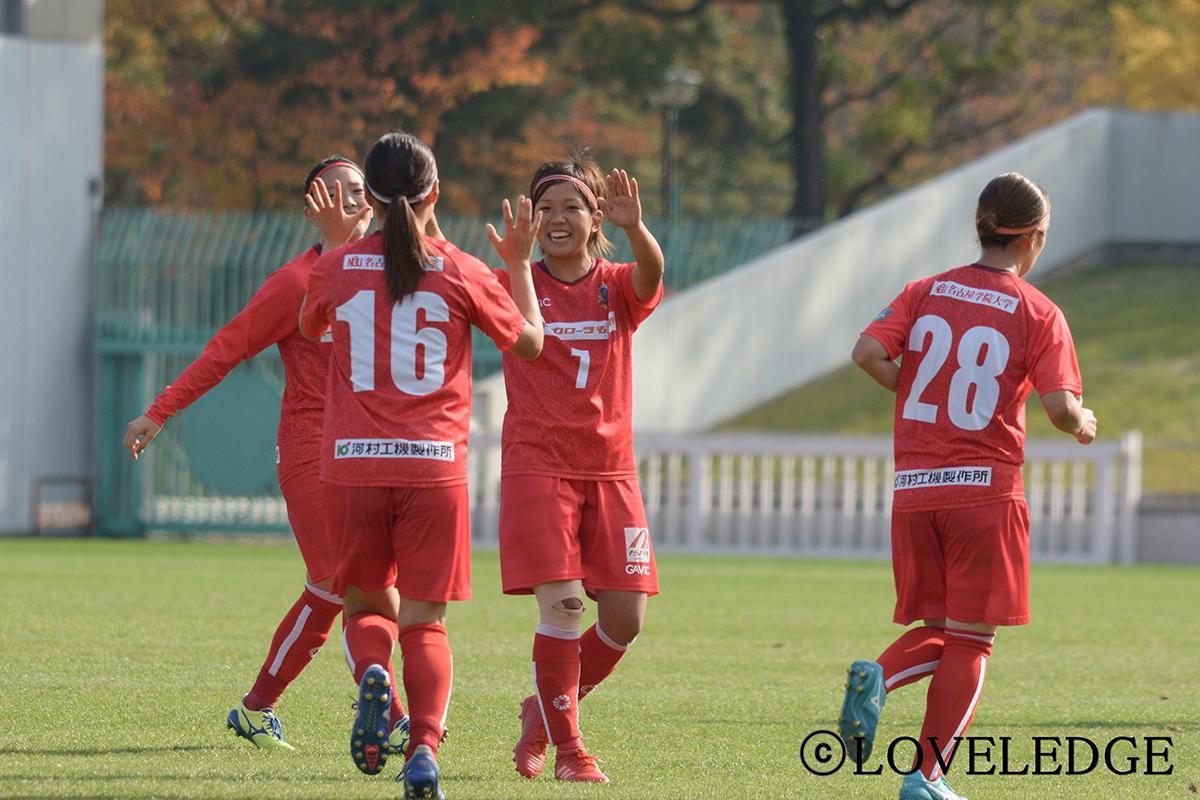 リーグ最終戦で2得点を挙げた「NGUラブリッジ名古屋」長谷川葵選手