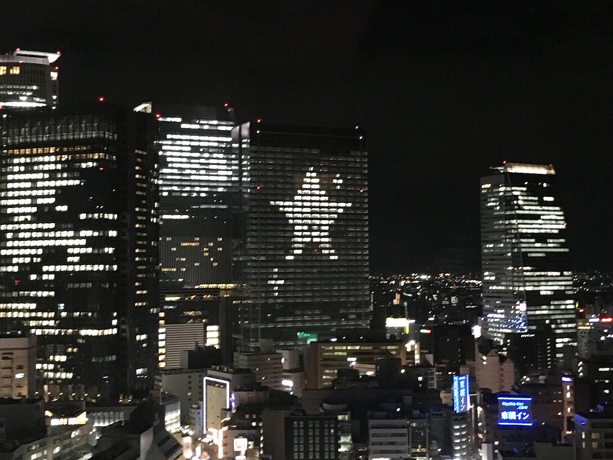 過去に実施した「ブラインドイルミネーション」の様子(画像提供=JPタワー名古屋)