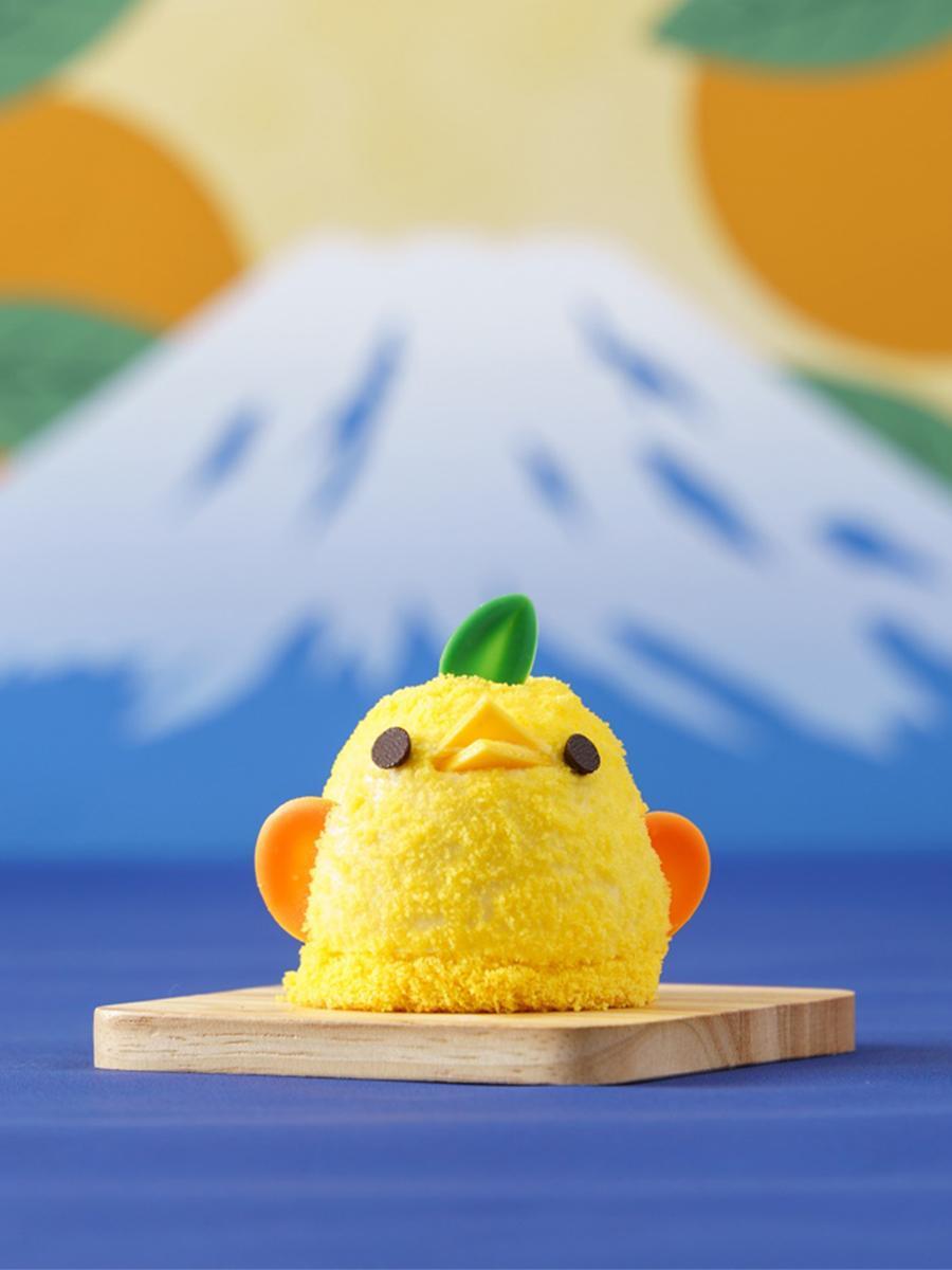 「美黄卵」や青島ミカンなど静岡県産食材を使った「静岡みかんぴよりん」