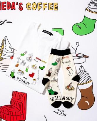 コメダ珈琲店・ウィムジー・ビームスTがコラボ ソックスやTシャツ展開