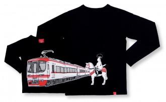 名鉄電車「1700系」とコラボした長袖Tシャツ 名鉄百貨店で先行発売
