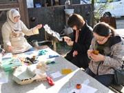 笠間で刺し子のワークショップ-日本の伝統手芸普及へ