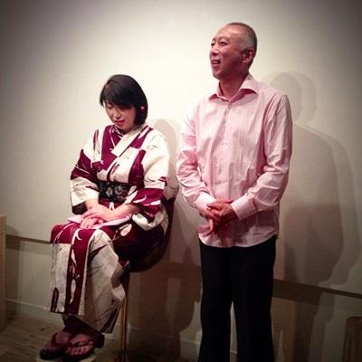 中山一朗さん、米川理恵子さんの前回のイベントでの朗読の様子