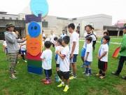 水戸で日比野克彦さん発案「ヒビノカップ」 段ボールでサッカー