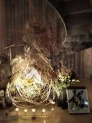 水戸・ホテルのエントランスで花と書の「桜」満開 SNS映え演出