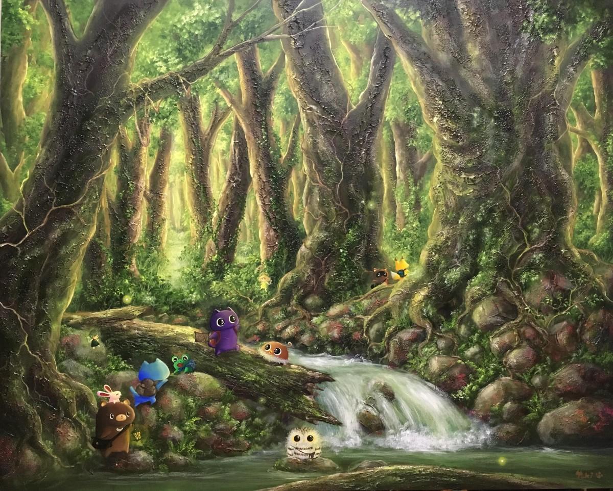 寺門さんの作品「この森に隠されたものは・・・」
