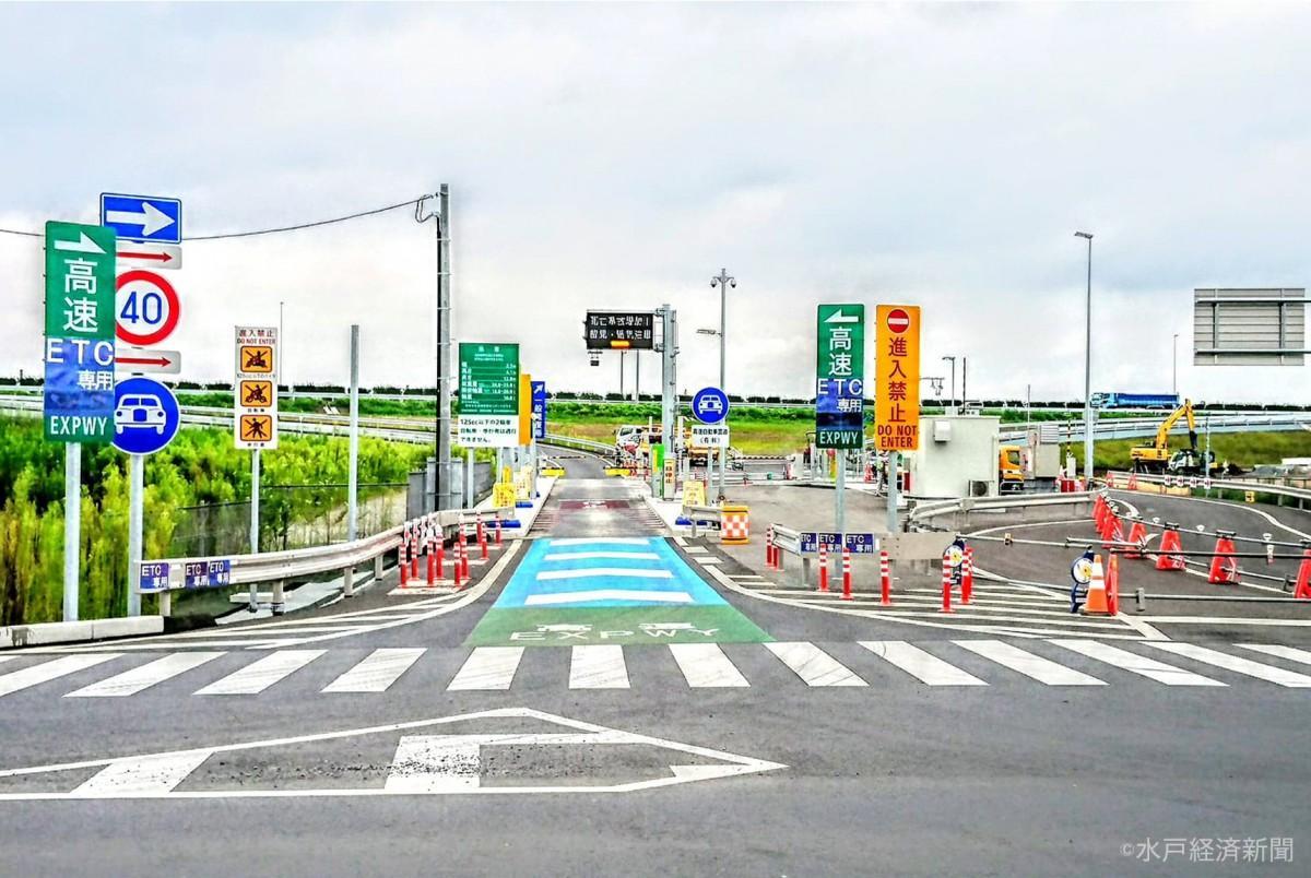 開通を控える水戸北スマートインターチェンジ