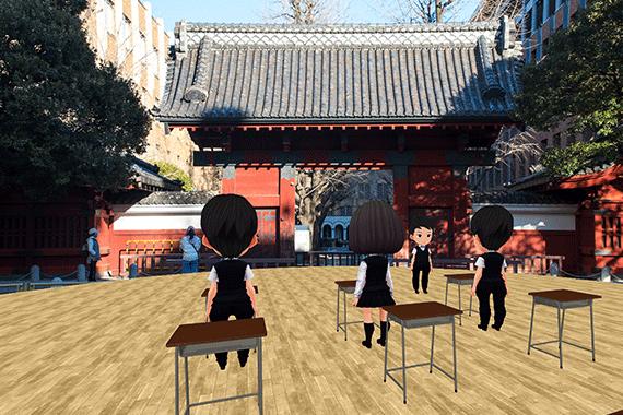 「VR School」でのオープンキャンパスの様子