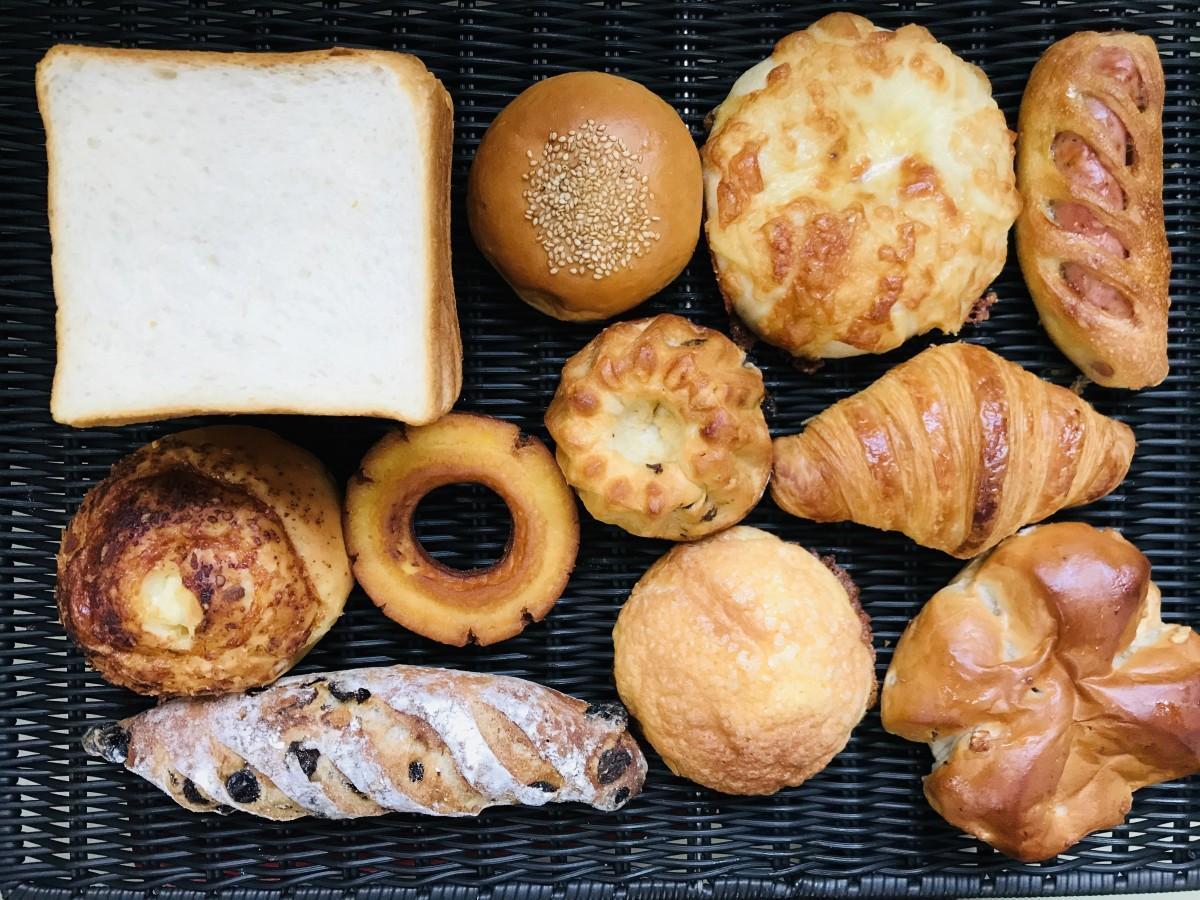 「パン工房ぐるぐる」のパン(一例)
