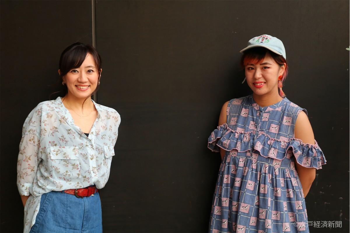 (左から)三森千愛(ちあき)さんと川嶋志乃舞(しのぶ)さん