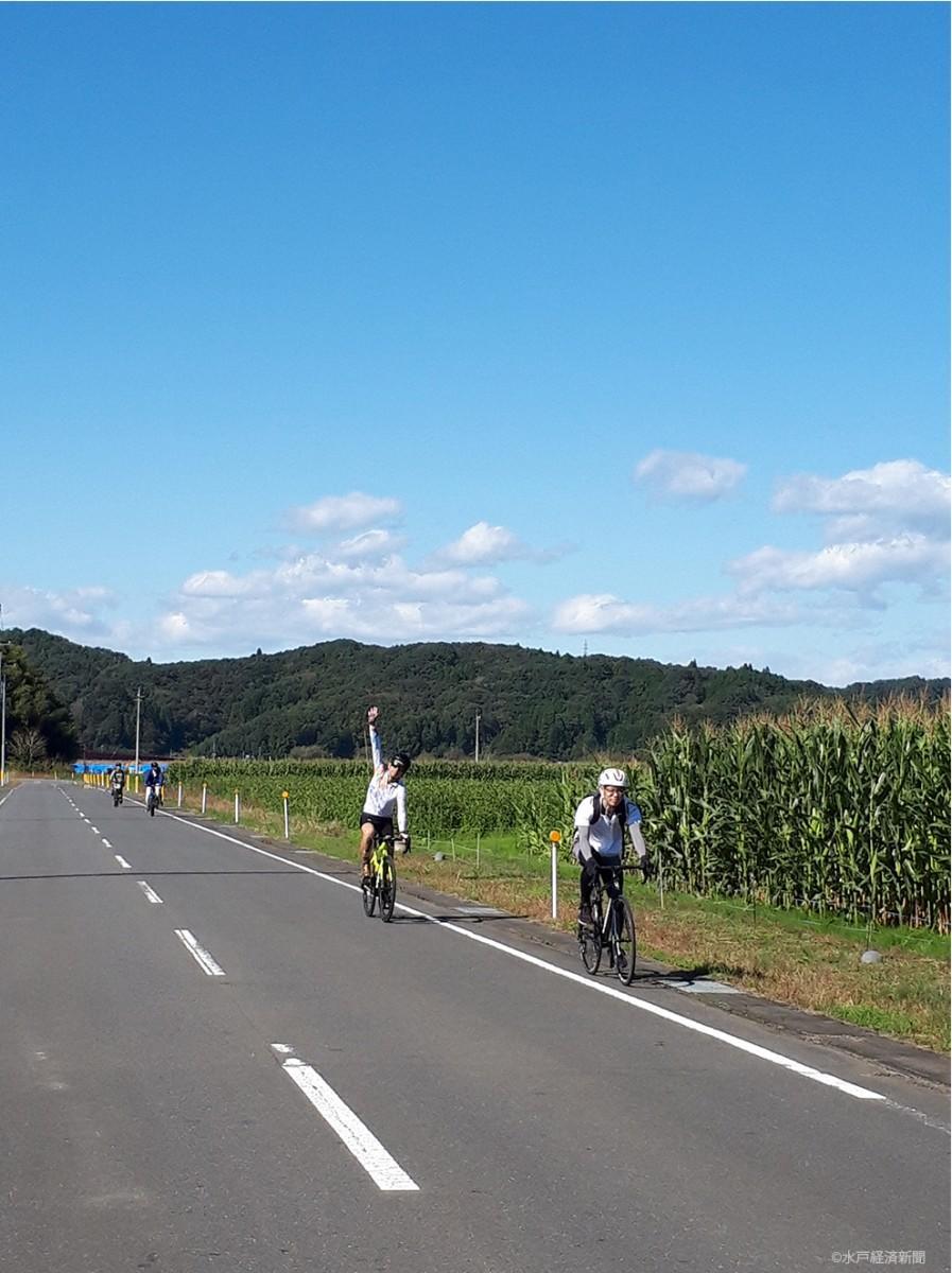 自転車に乗って自然を満喫