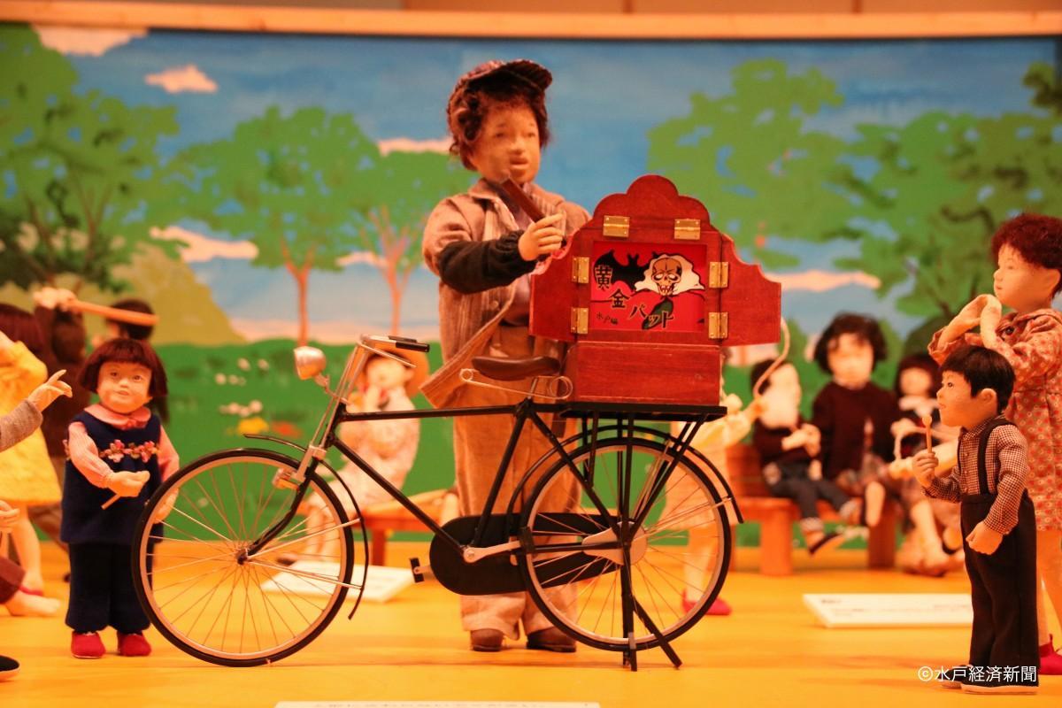 「昭和浪漫 思い出の宝石箱」展示の創作人形