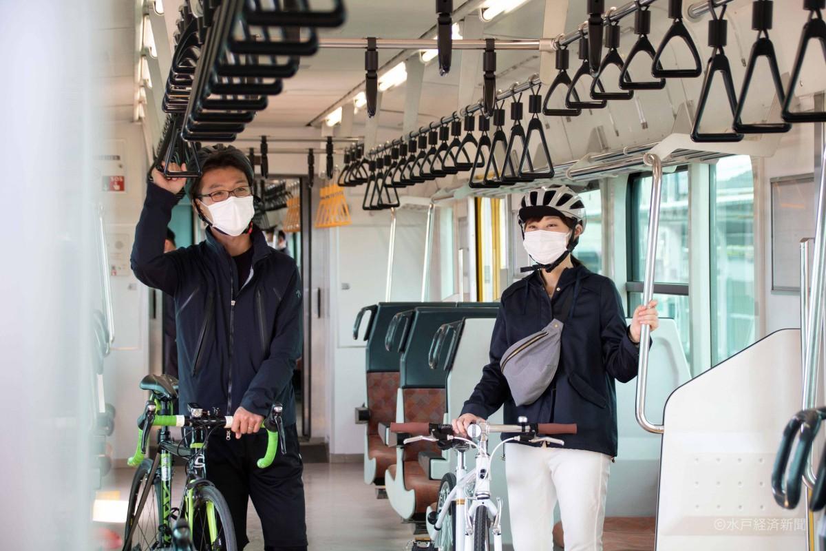 サイクルトレインに自転車を持ち込み乗車