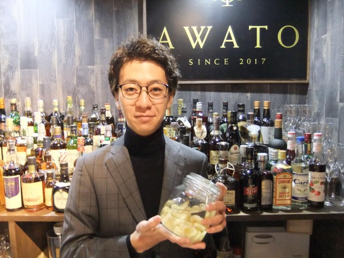 「ワインソムリエが作る本格カクテルを味わってほしい」と話す粟戸さん