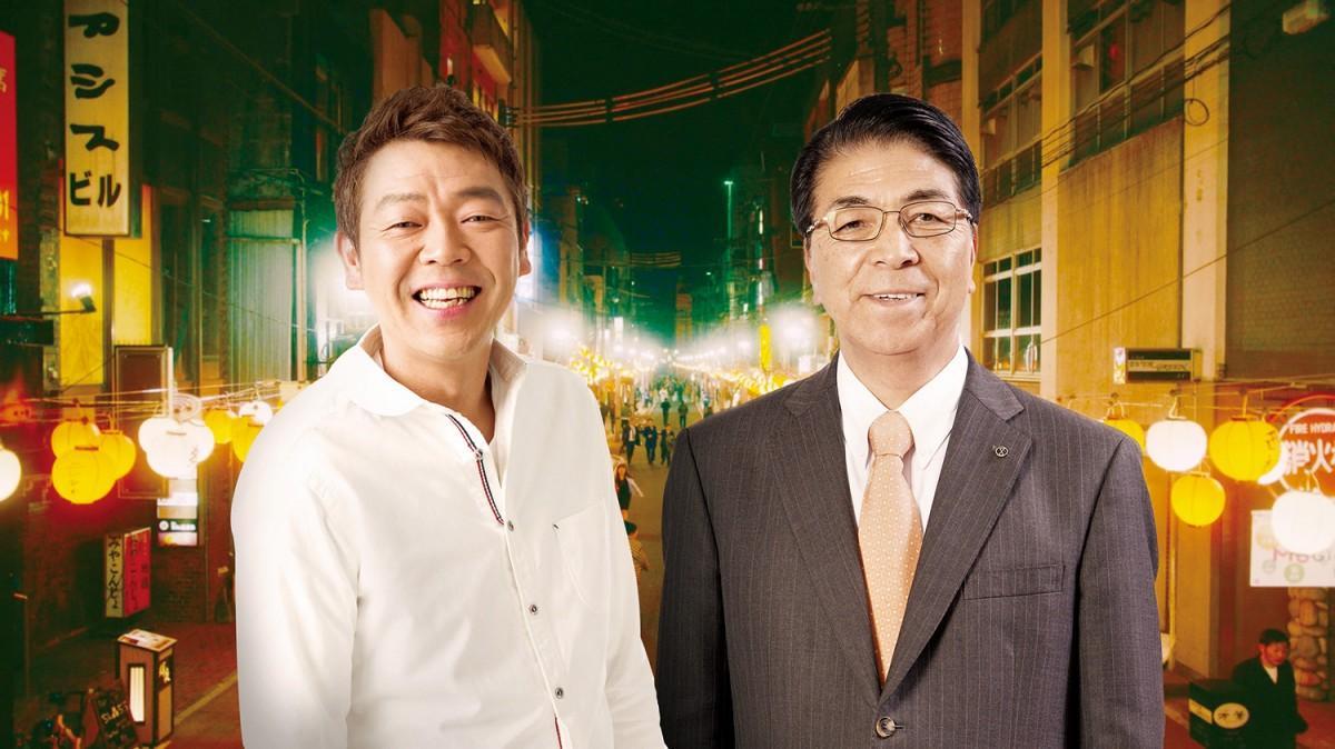 玉袋さん(左)と戸敷正宮崎市長(右)