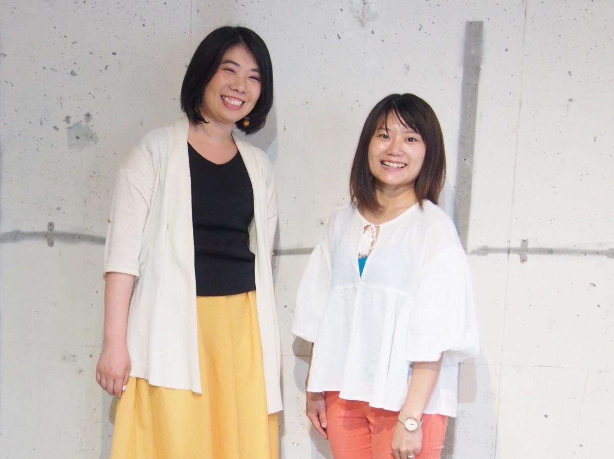 イベントを主催する川原祥子さん(左)と谷口真里佳さん(右)