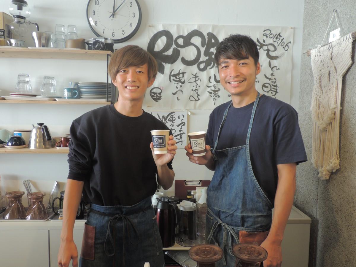 「コーヒーが初めてな方でも、気軽に来ることのできる場所にしたい」と話す宮本さん(右)と同店スタッフ