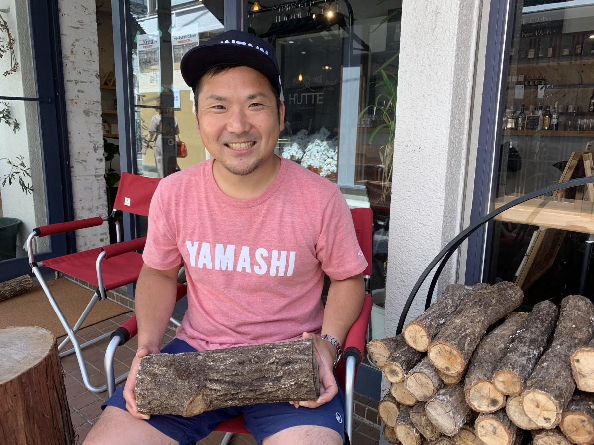 美郷町渡川地区で、原木シイタケ、原木マイタケ、米などを生産している今西猛さん