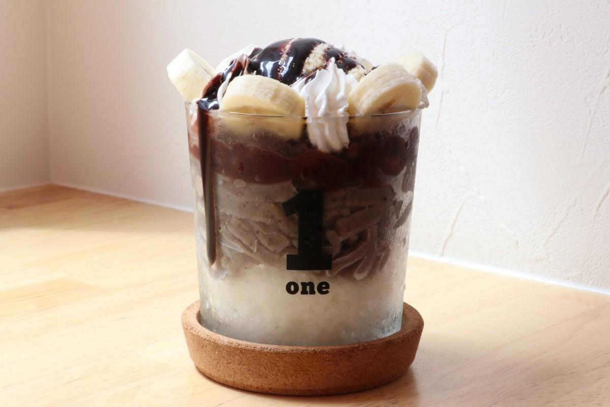 同店で提供する「珈琲うどんパフェ」