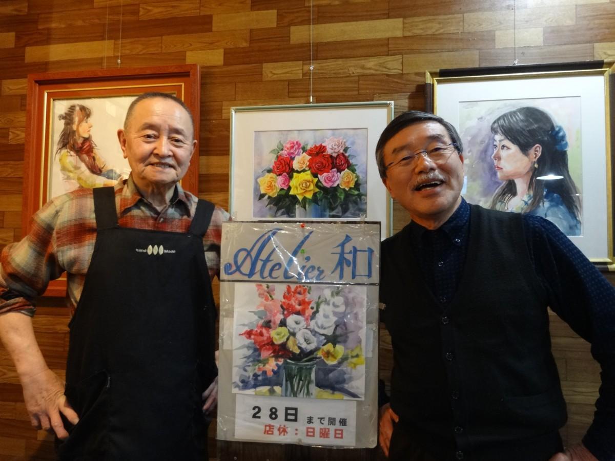 (画像左から)店主の池英寿さん、主催の高橋和平さん