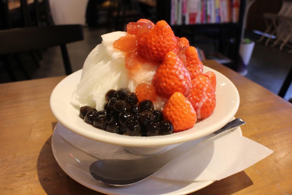 宮崎県産のイチゴを使った「いちご雪花冰」