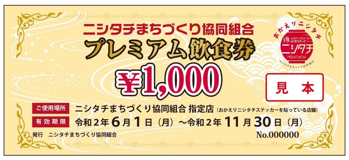 1万セット限定で販売するプレミアム飲食券
