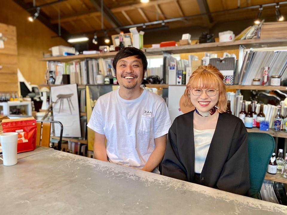 鬼束社長(左)と「paak supply」を担当する三浦さん(右)